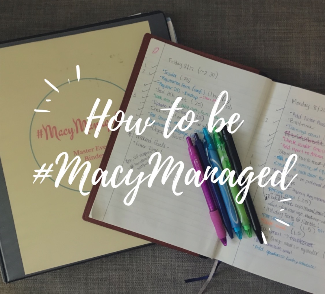 How to be #MacyManaged